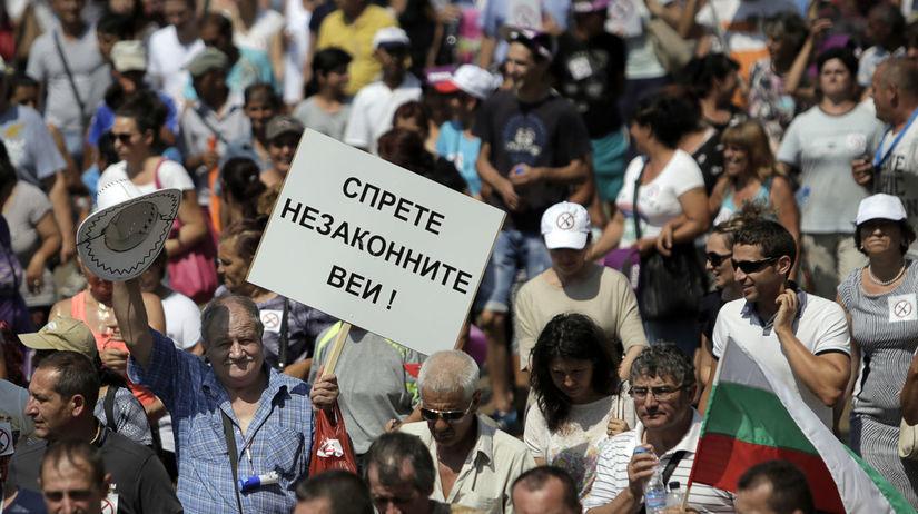 Bulharsko, protest, elektrina