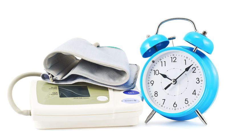 krvný tlak, tlakomer, budík