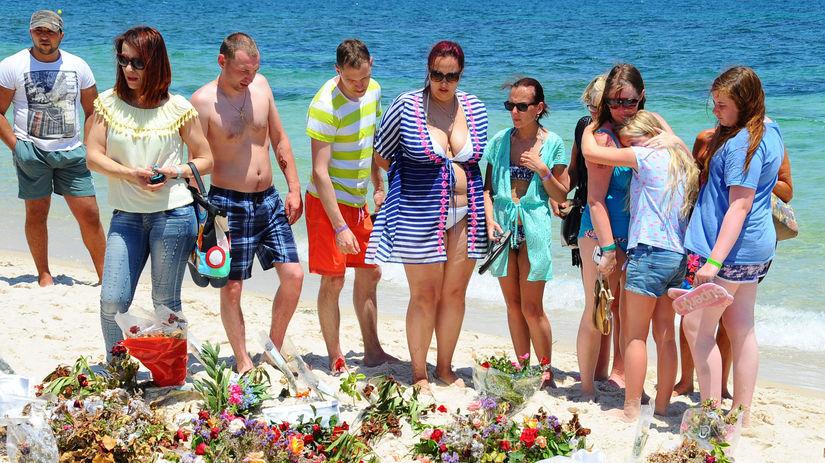 Tunisko, útok, islamista, kvety, pláž, turisti,...