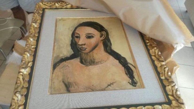 Olejomaľba Hlava mladej ženy od Pabla Picassa.