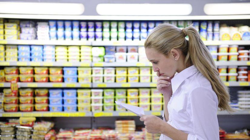 potraviny, nákup, žena, obchod, nakupovanie