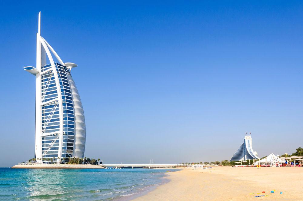 Dubaj, hotel, Burj Al Arab, pláž, Burdž