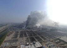 čína, výbuch, továreň, tchien-ťin