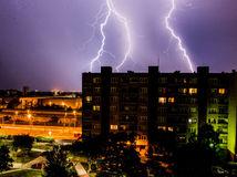 búrka, Bratislava, blesk
