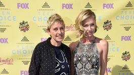 Moderátorka Ellen DeGeneres (vľavo) a jej manželka - herečka Portia de Rossi.