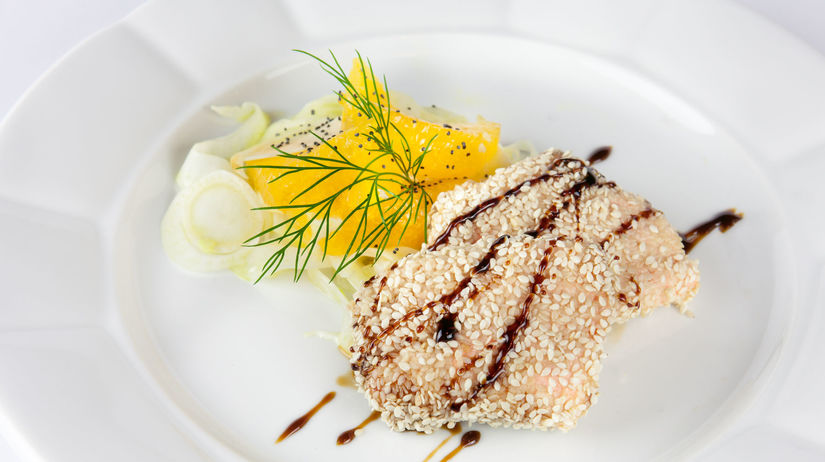 Losos v sezamovej kruste s balzamikovou...