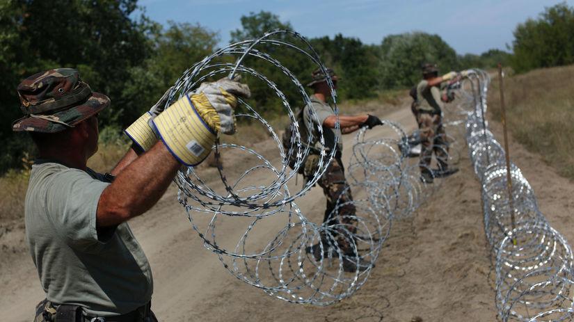 Maďarsko, hranica, utečenci, vojaci