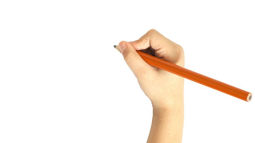 ruka, písanie, dieťa