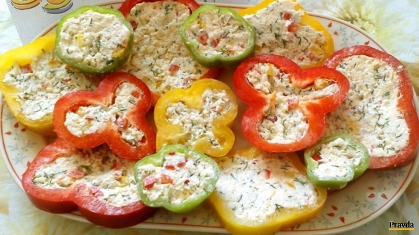 plnené paprikové plátky, paprika