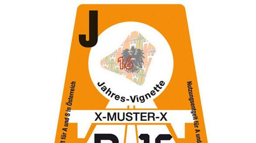 Rakúsko - diaľničná známka