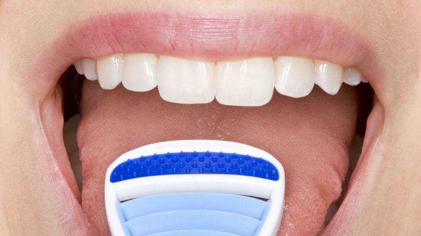 škrabka, jazyk, halitóza