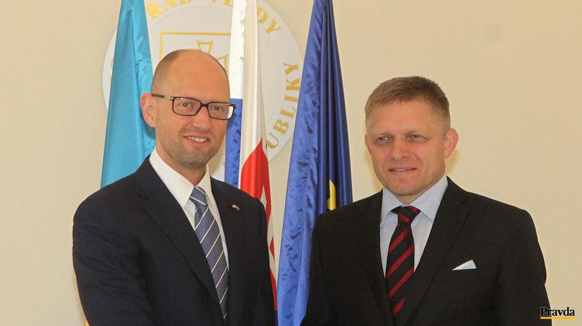 Arsenij Jaceňuk, Robert Fico