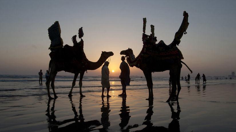 Pakistan, ťava, slnko