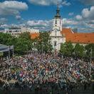 Bratislava, pochod za život, námestie snp.