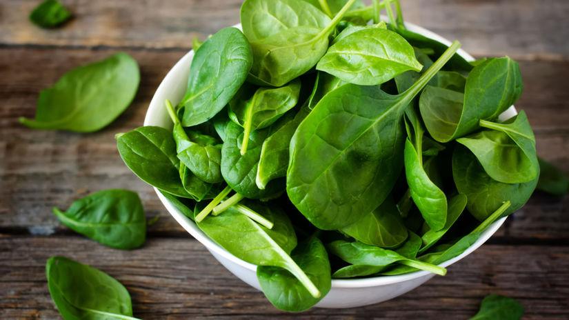 špenát, listová zelenina, menštruácia