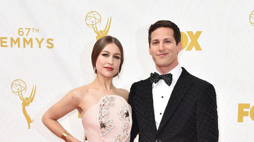 Herec Andy Samberg a jeho manželka Joanna...