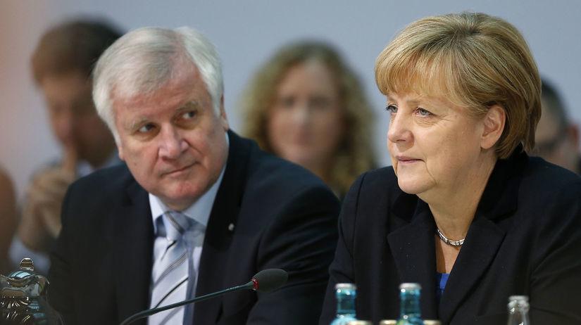 Seehofer, Merkelová