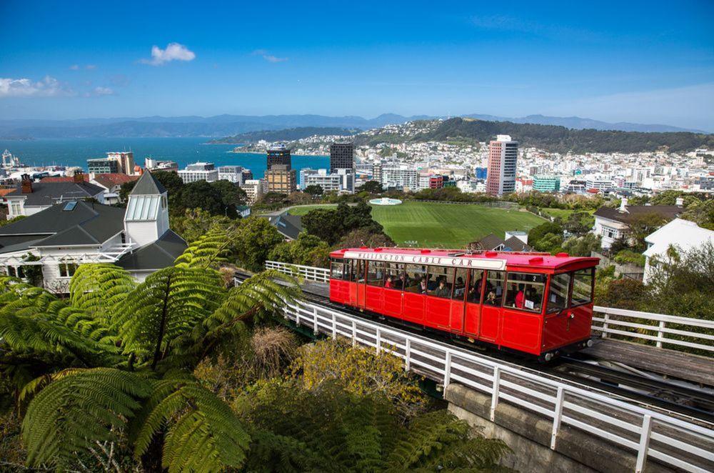 Wellington, Nový Zéland, mesto, električka, vlak, zubačka,
