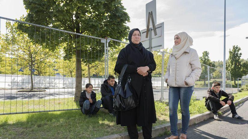 rodina, utečenci, Heidenau
