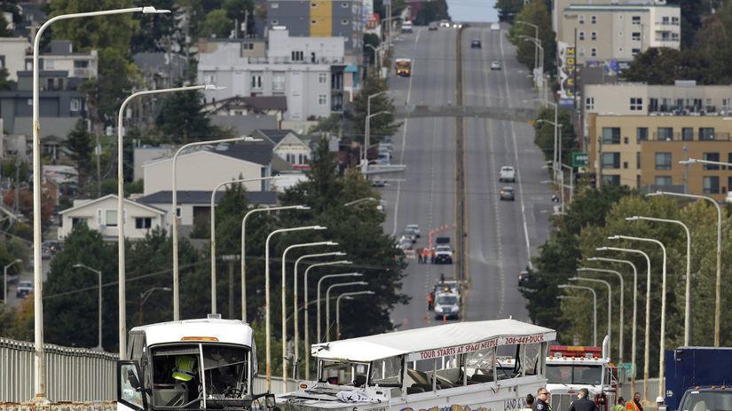 Seattle, autobus, nehoda