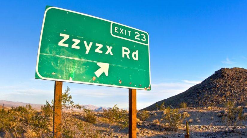 Zzyzx, USA, cesta, tabuľa, road, cestovanie,...