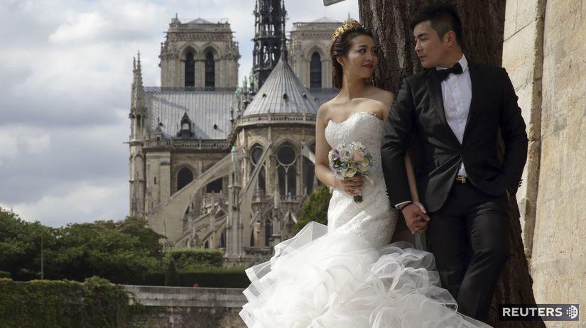 Číňania, svadba, Paríž, fotky, fotografie,...