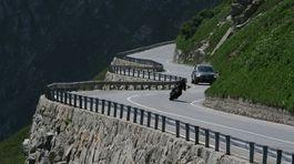 Švajčiarsko, cesta, horská, hory, motorka,