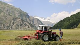 Švajčiarsko, farmári, pole, lúka, traktor