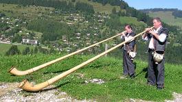Švajčiarsko, trúby, píšťaly