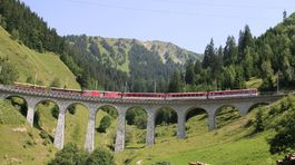 Švajčiarsko, vlak, most,