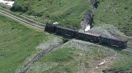 Švajčiarsko, vlak, parný vlak, koľajnice,