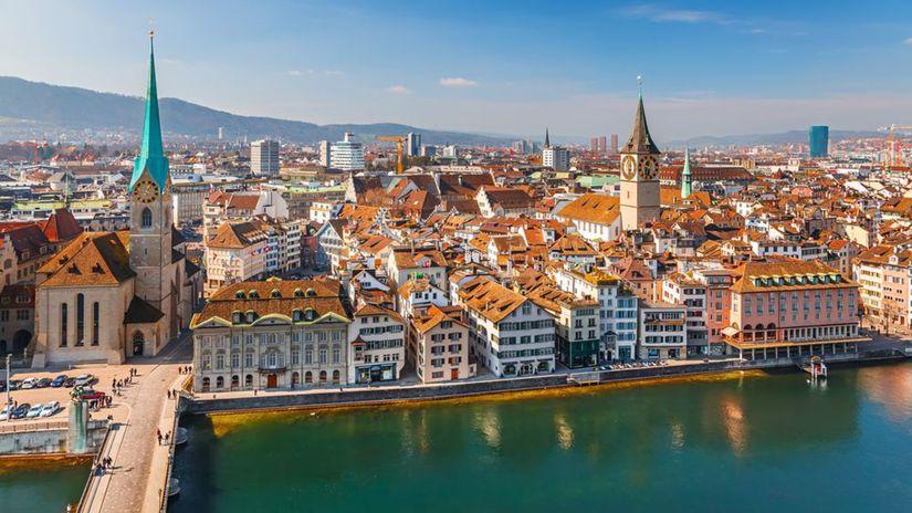 Zurich, Švajčiarsko, Zürich, mesto, rieka,