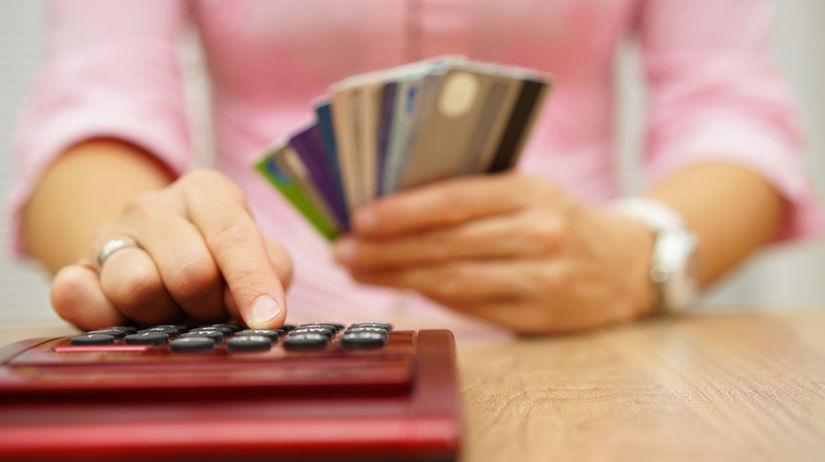 kalkulačka, banka, klient, karta, peniaze