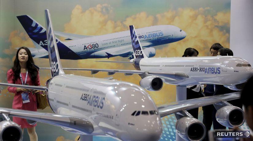 Airbus, lietadlá,Čina, Airbus A380, A300, expo