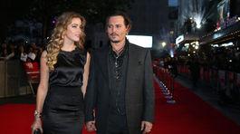 Johnny Depp a jeho manželka Amber Heard
