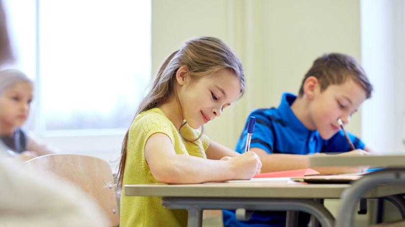 žiak, škola, prvák, písanie