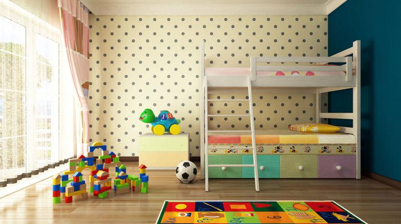 detská izba, dvojposchodová posteľ