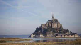 Ostrov Mont-Saint-Michel, Francúzsko,