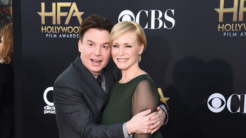 Mike Myers a jeho manželka Kelly Tisdale