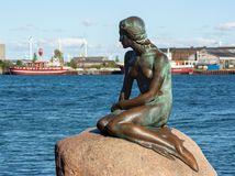 Malá morská víla, malá morská panna, Kodaň, Dánsko