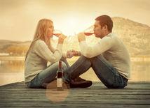 červené víno, romantika