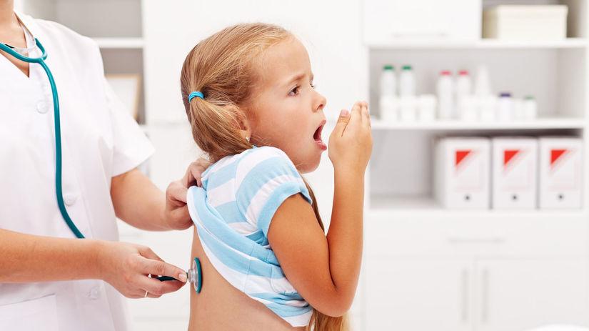 kašeľ, dieťa, vyšetrenie, stetoskop