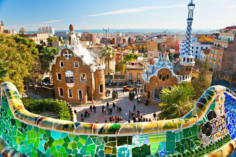 Park Güell, Barcelona, Španielsko