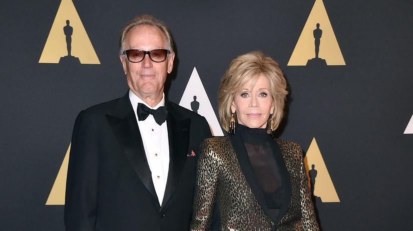 Herec Peter Fonda a jeho sestra Jane Fonda.