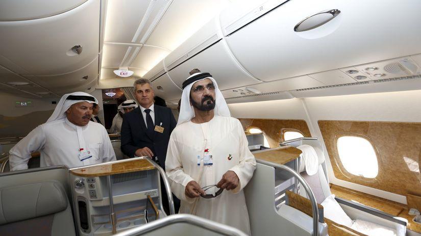 Emirates, Dubaj, lietadlo, Airbus A380-800