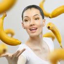 banán, žena, banány
