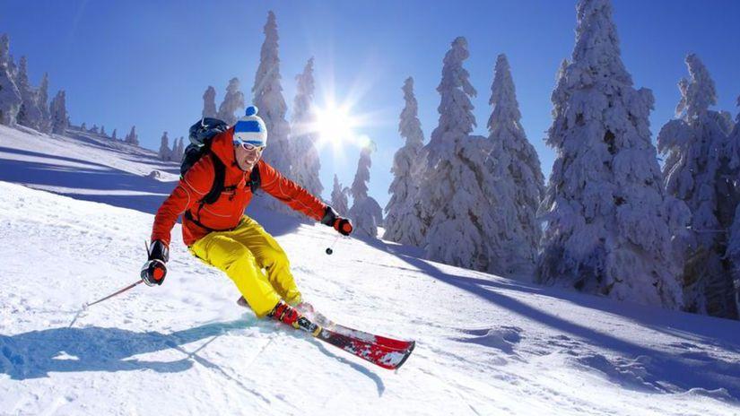 lyžiar, lyžovanie, lyžovačka, lyže, zima, sneh,...