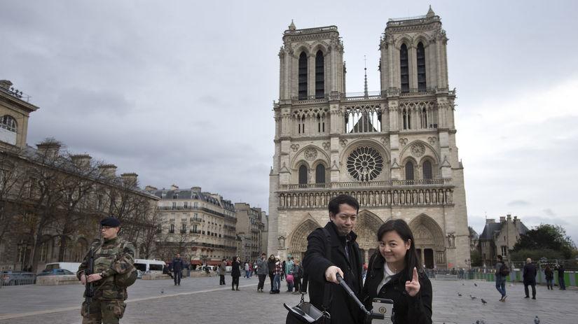 Paríž, turisti, Notre-Dame