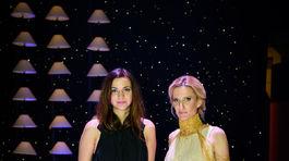 Andrea Pojezdálová (vľavo) a moderátorka Adela Banášová