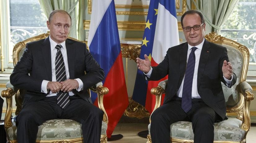 Putin, Hollande, Rusko, Francúzsko